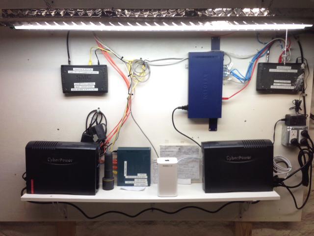basement network wiring scheme